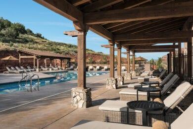 Pool & Cabanas at Seven Canyons