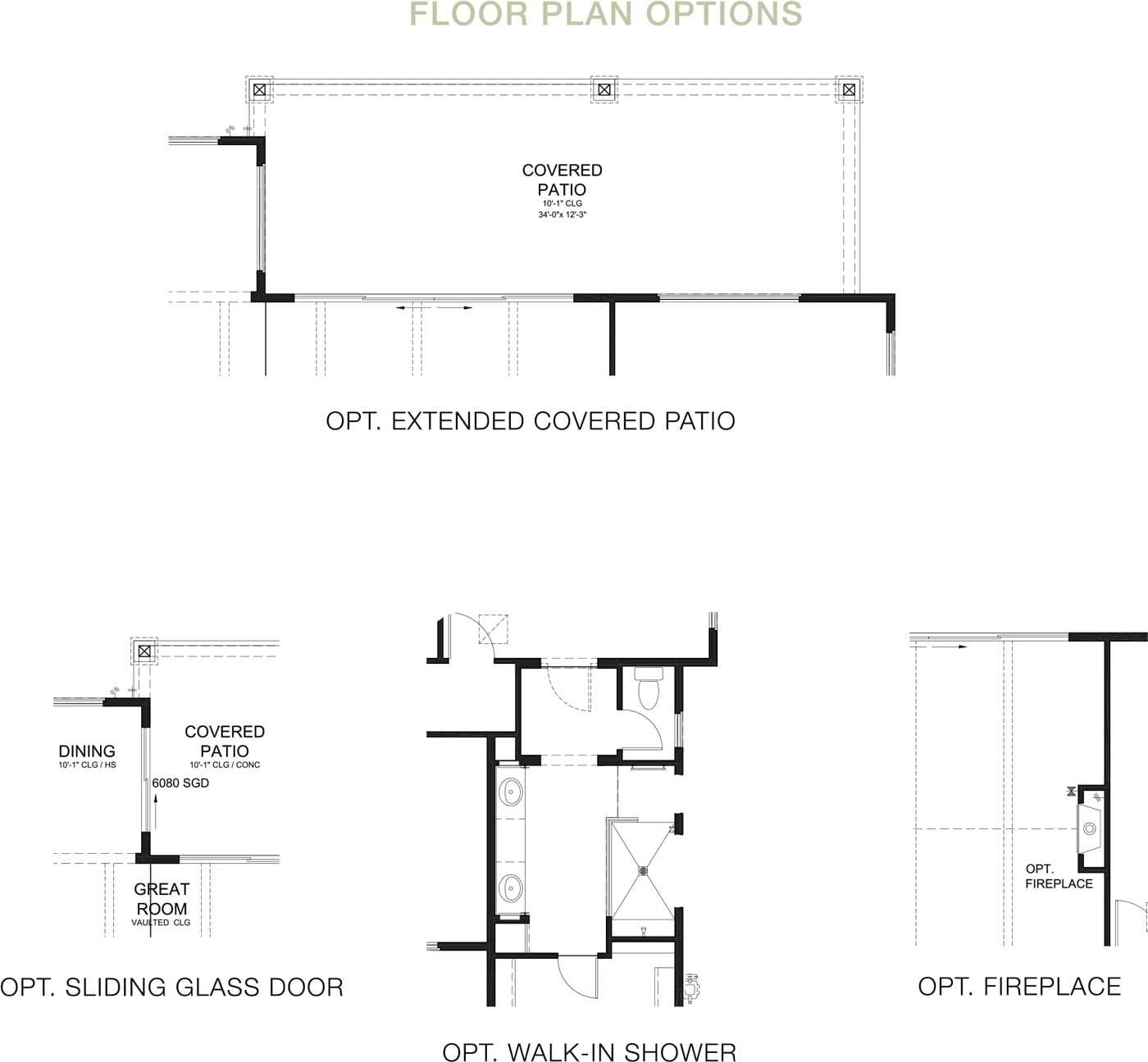 Hacienda Floorplan Options