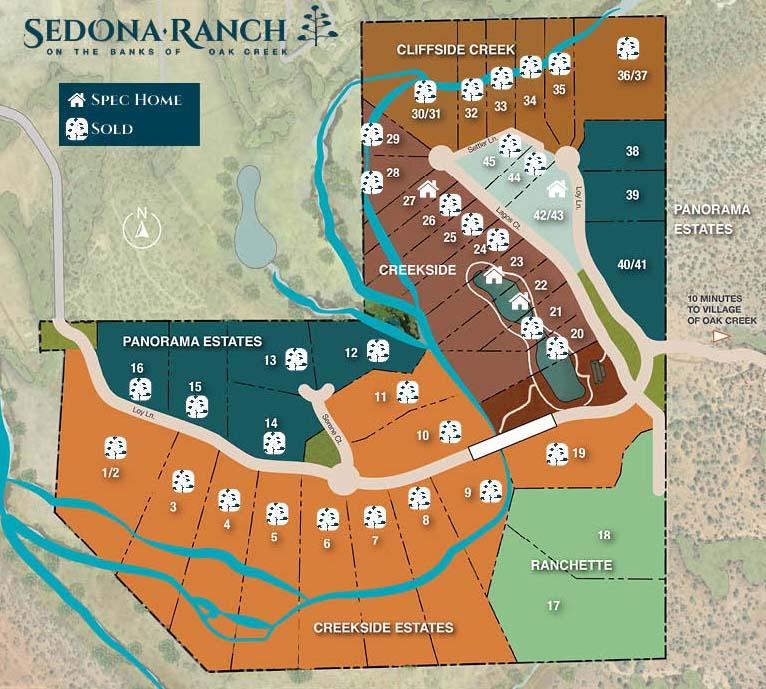 Sedona Ranch Community Map